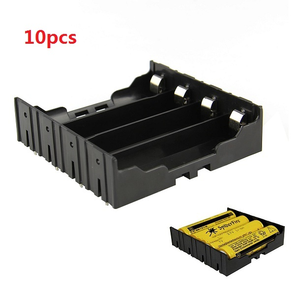 10pcs DIY 4-Slot 18650 Battery Holder With Pins