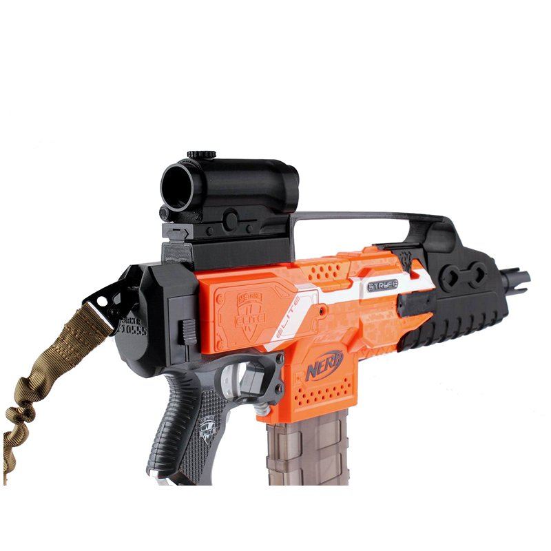 WORKER Decoration Mod 3D Print Cosmetic Sight For Nerf Stryfe Elite Retaliator Blaster Toy