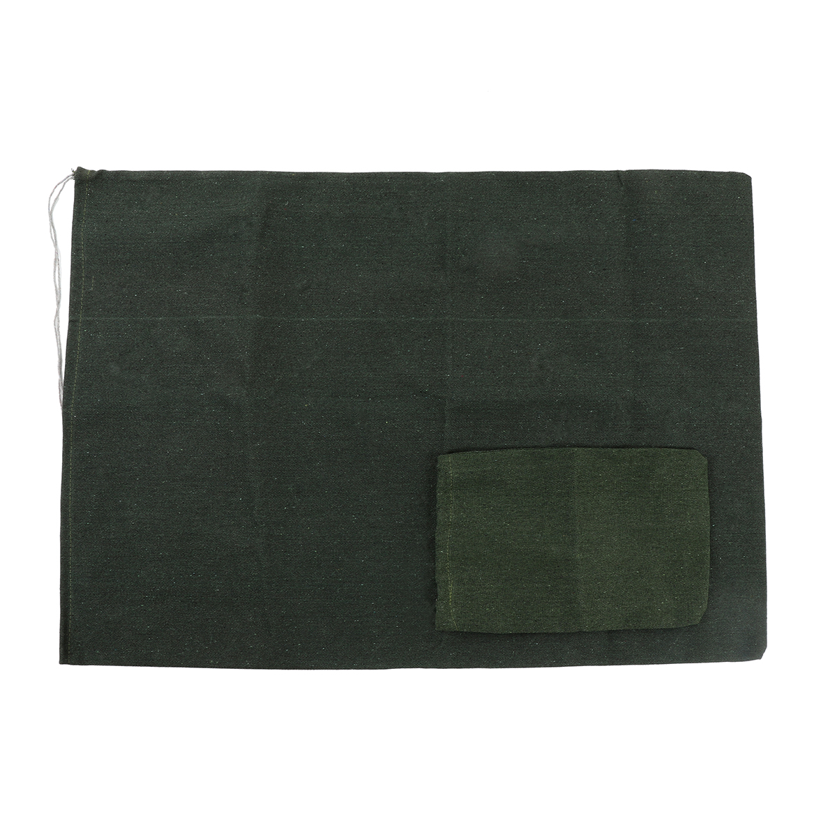 Canvas Drawstring Large Bag Pouch Clothes Dark Green Storage Home Laundry Pack