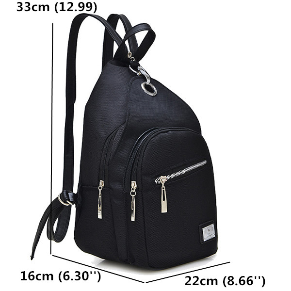 Women PU Leather Chest Bags Girls Cute Backpack School Book Bags