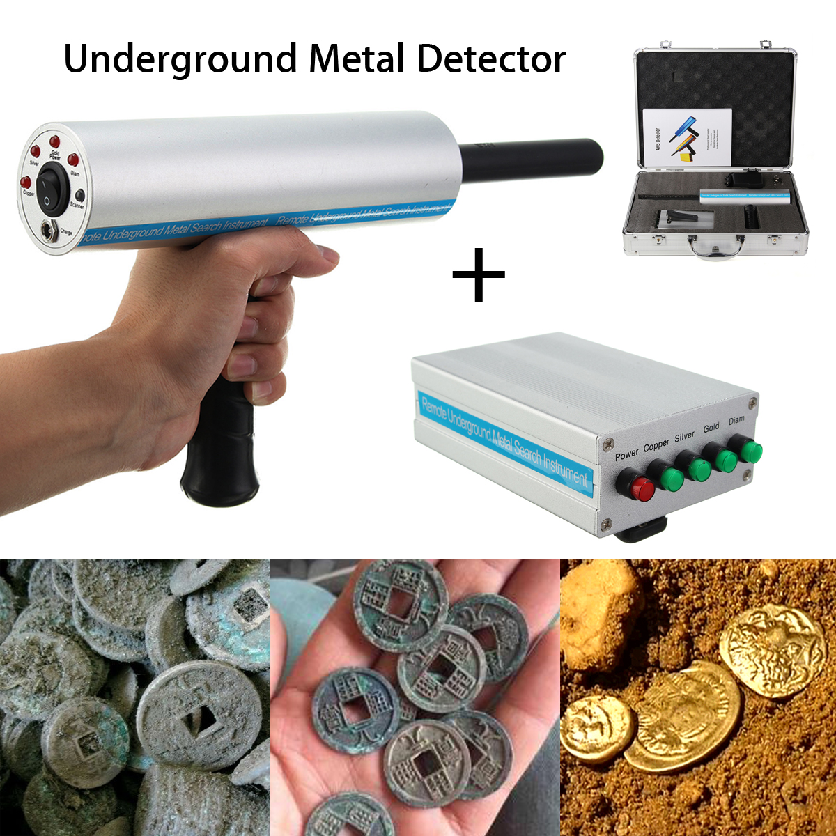 Metal Detector Gold Underground Detection Locator Scanner Silver