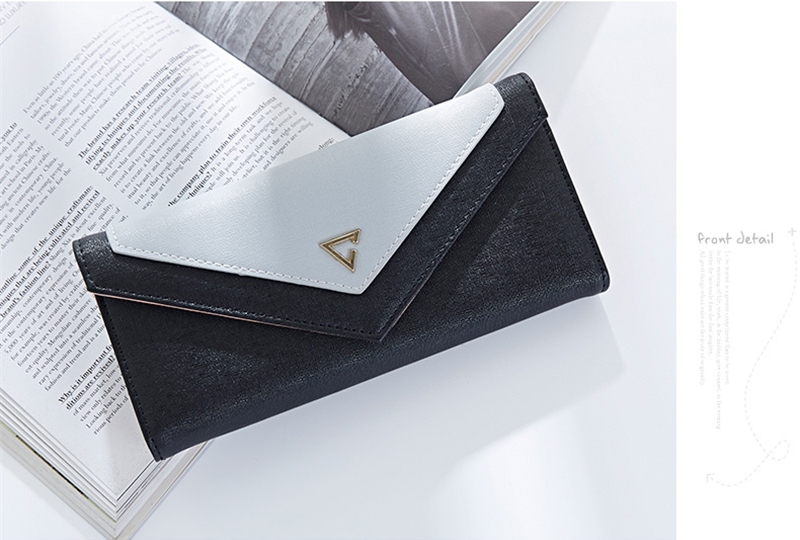 Universal Multi-layer Envelope Design Long Purse Phone Wallet Clutch Bag For Phone Under 5 inches
