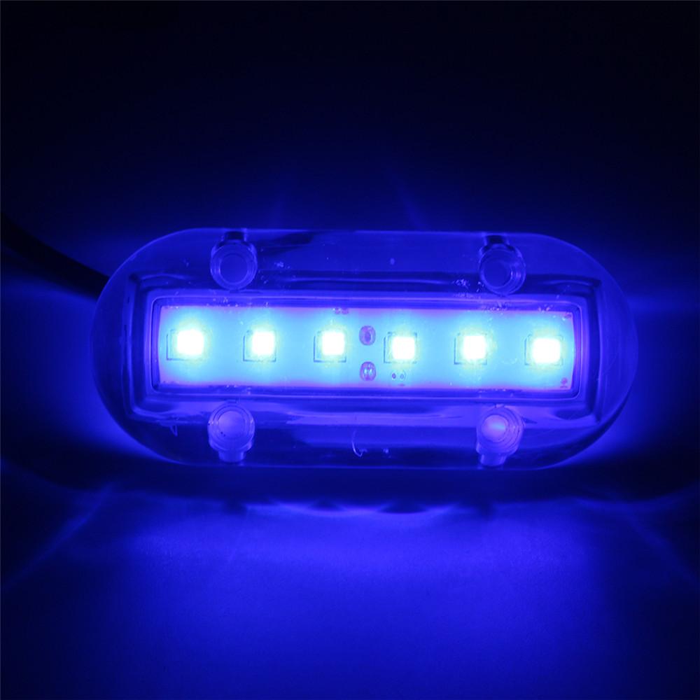 12V Marine Yacht Boat High Intensity Waterproof LED Underwater Light Blue