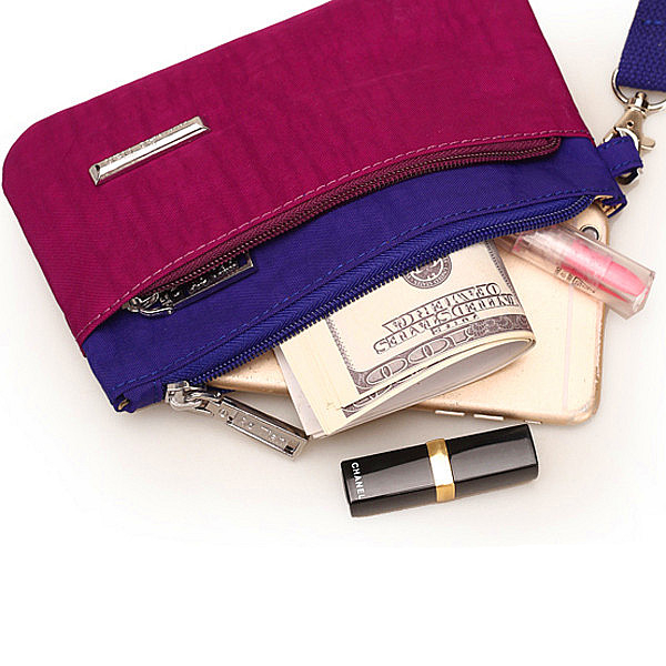 Women Wallets Nylon Lady Long Coin Purses Zipper Purse Casual Simple Handbags 12 Color