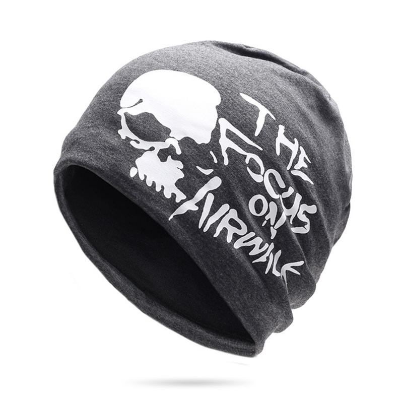 Cotton Slouchy Beanie Caps Earmuffs Brimless Hat