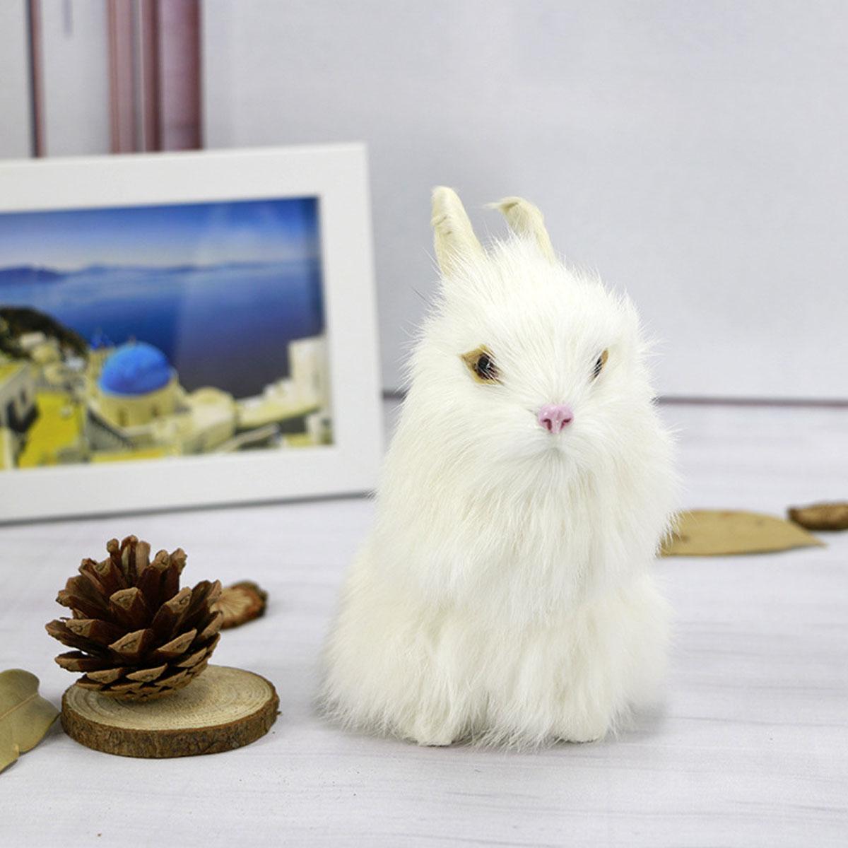 Серые / Желтые / Коричневые / Белые Кролики Пасхальные Кролики Ручной Работы Украшения Дома Настольный Орнамент