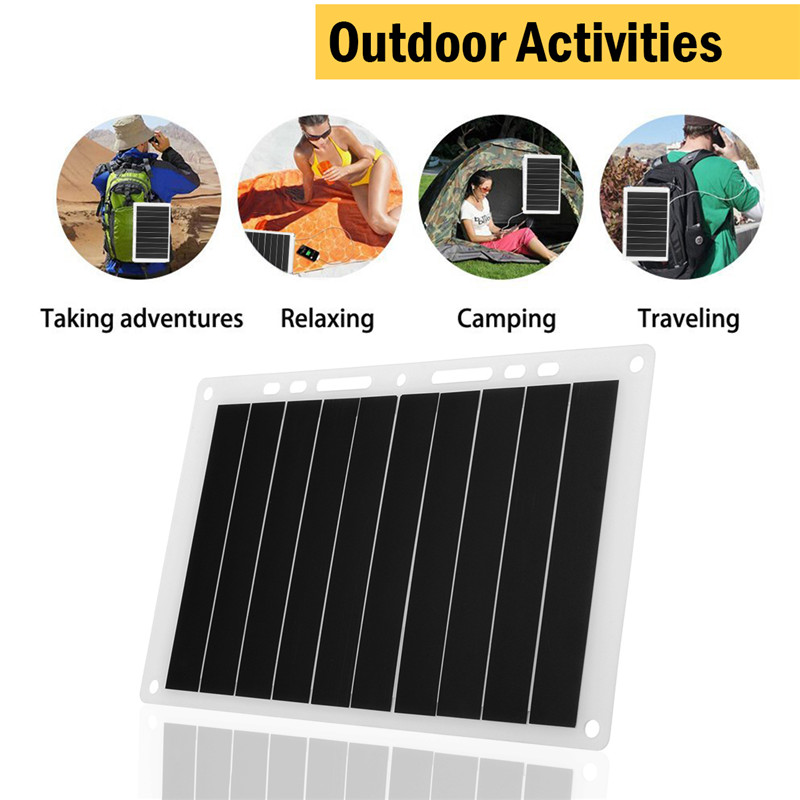 Ultra-thin 5V 10W 1.2A Monocrystalline Portable USB Solar Charging Board Solar Panel For Outdoor Mobile Phone