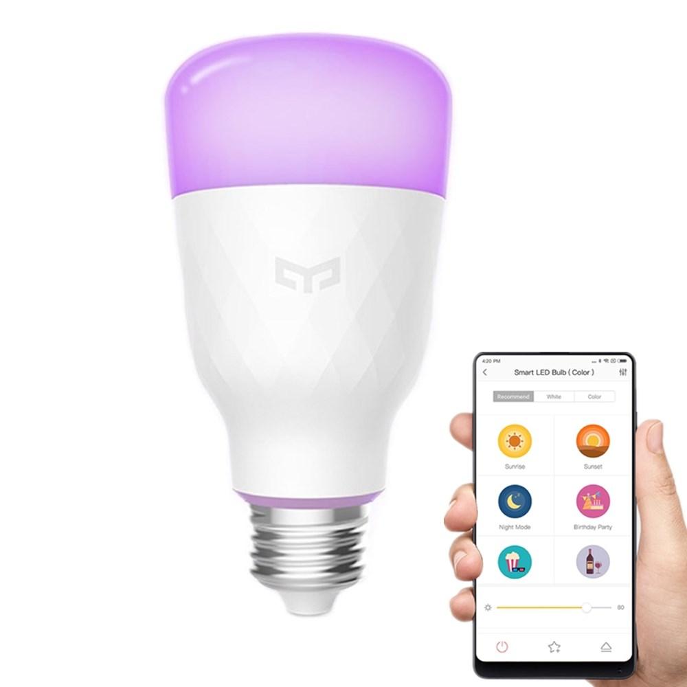 Xiaomi Yeelight YLDP06YL E26 E27 10W RGBW Smart LED Bulb Wifi App Control AC100-240V