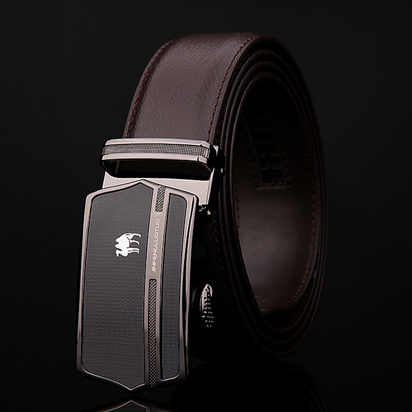 125CM Men Business Cowhide Genuine Leather Luxury Belts Durable Automatic Buckle Trousers Belt