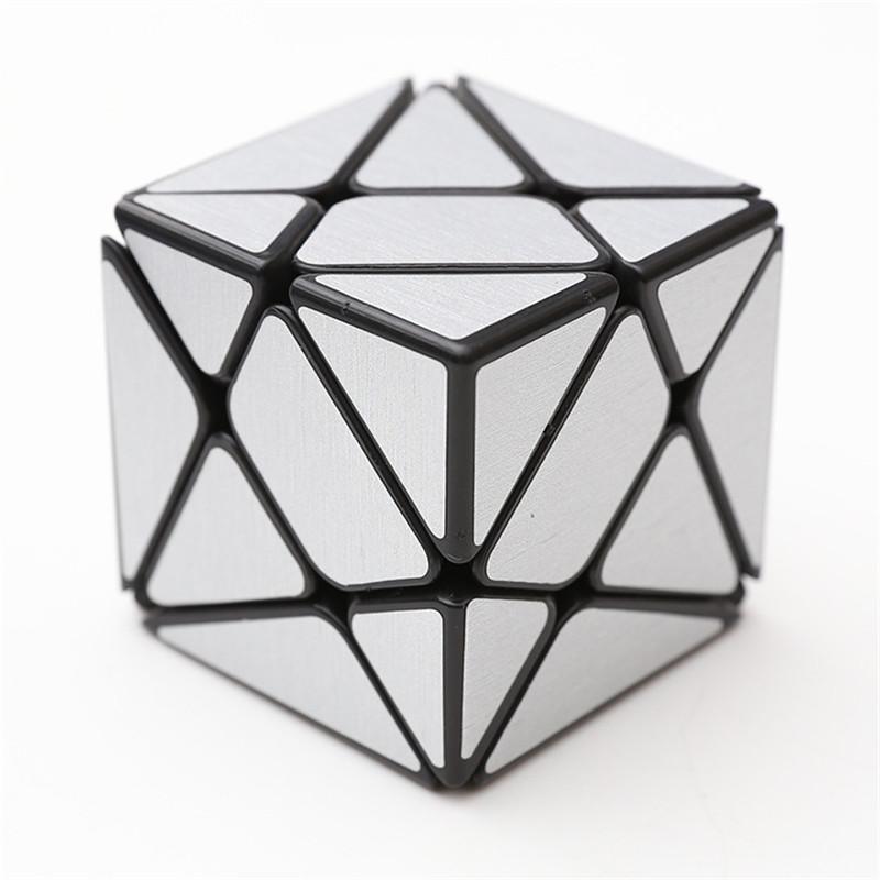 Classic Magic Cube Toys PVC Sticker Block Puzzle Speed Cube Sugar Color Irregular Shape