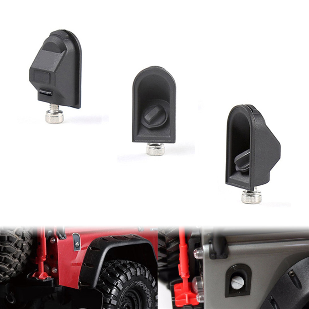 Black Rubber Plastic Fuel Tank Cap Cover for TRX-4 Traxxas Crawler Rc Car Parts