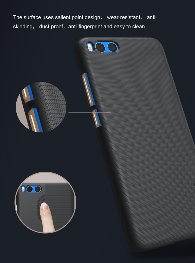 NILLKIN Frosted Shield PC Hard Back Cover Case For Xiaomi Mi Note 3