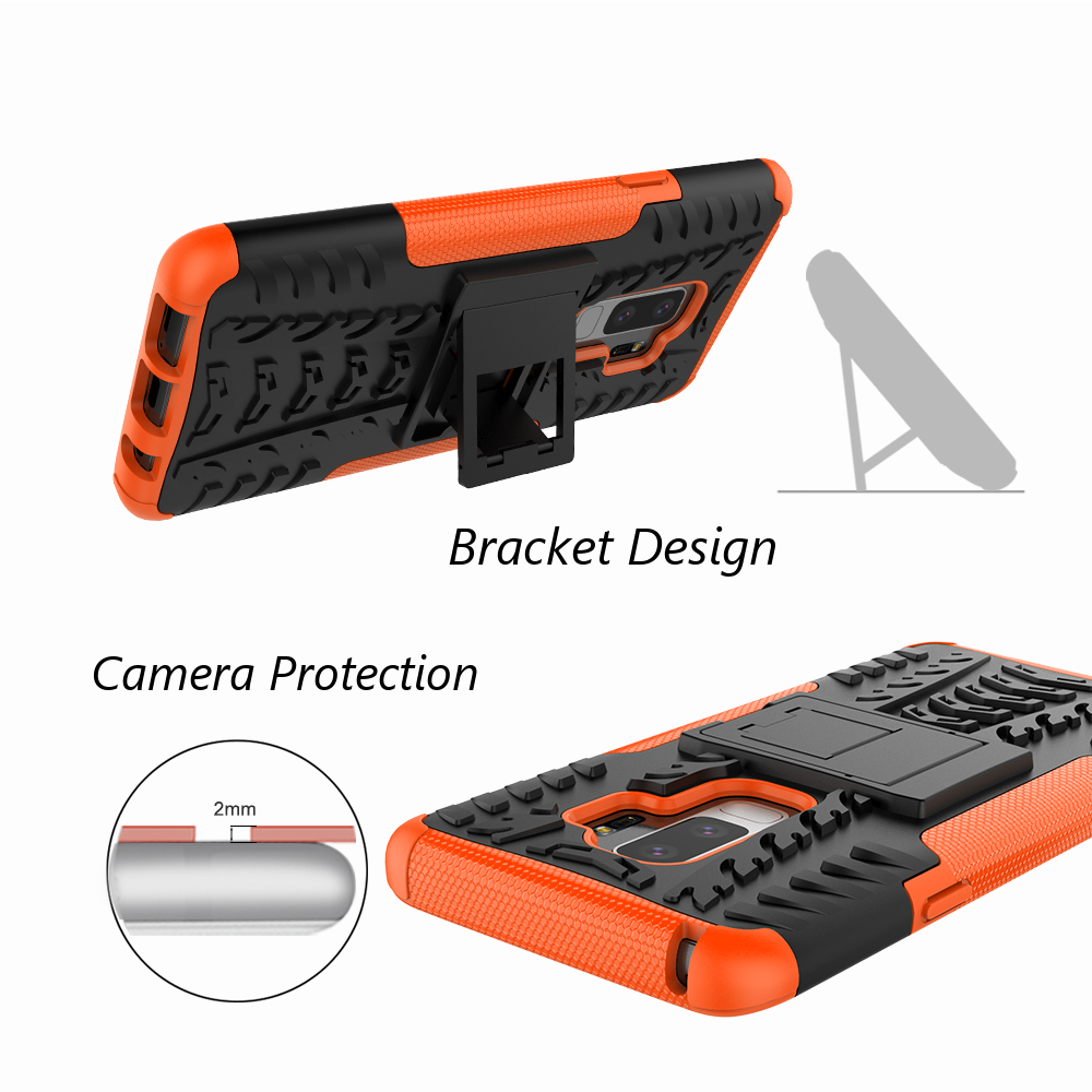 Bakeey™ 2 in 1 Armor Kickstand TPU PC Protective Case for Samsung Galaxy S9 Plus