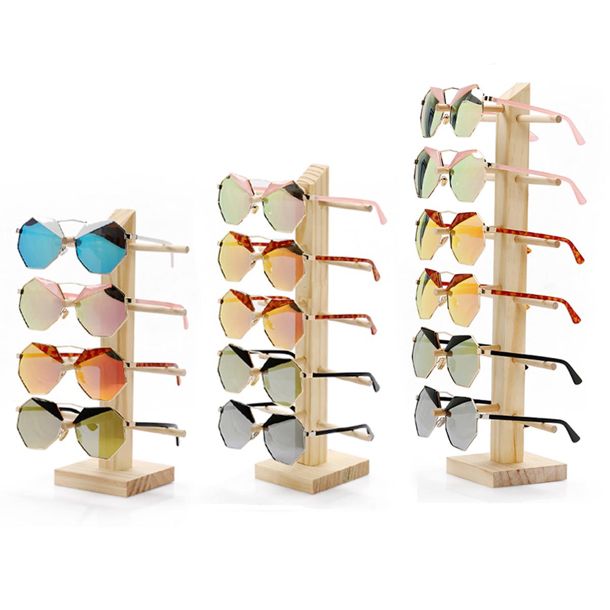 Natural Wood Wooden Sunglasses Eyeglasseses Display Rack