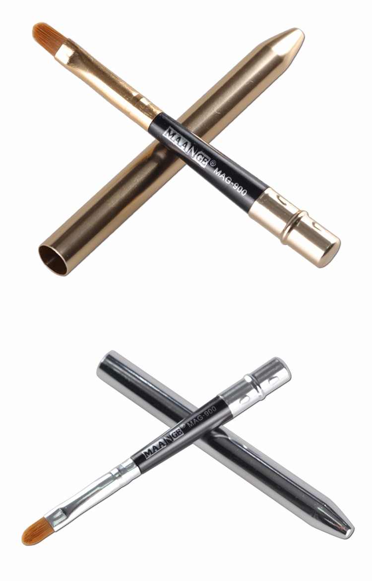 Portable Lips Concealer Brush Gold Silver Brushes Retractable Makeup Cosmetics Tool
