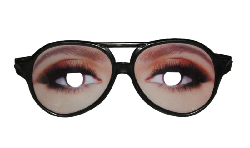 Halloween Artificial Eye Glasses Odd Funny Cosplay Props