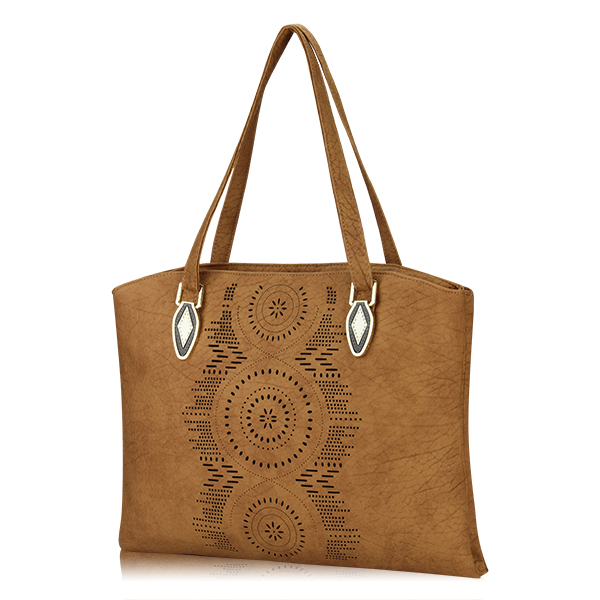 Women Hollow Out Flower Tote Bags Ladies Vintage Shoulder Bags Casual Shopping Bags