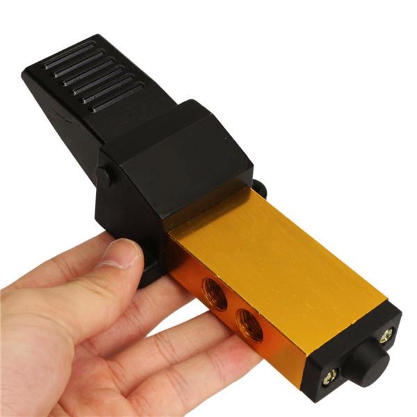 1/4 Inch Air Pneumatic Valve Foot Pedal Manual Valve 2 Position 5 Way