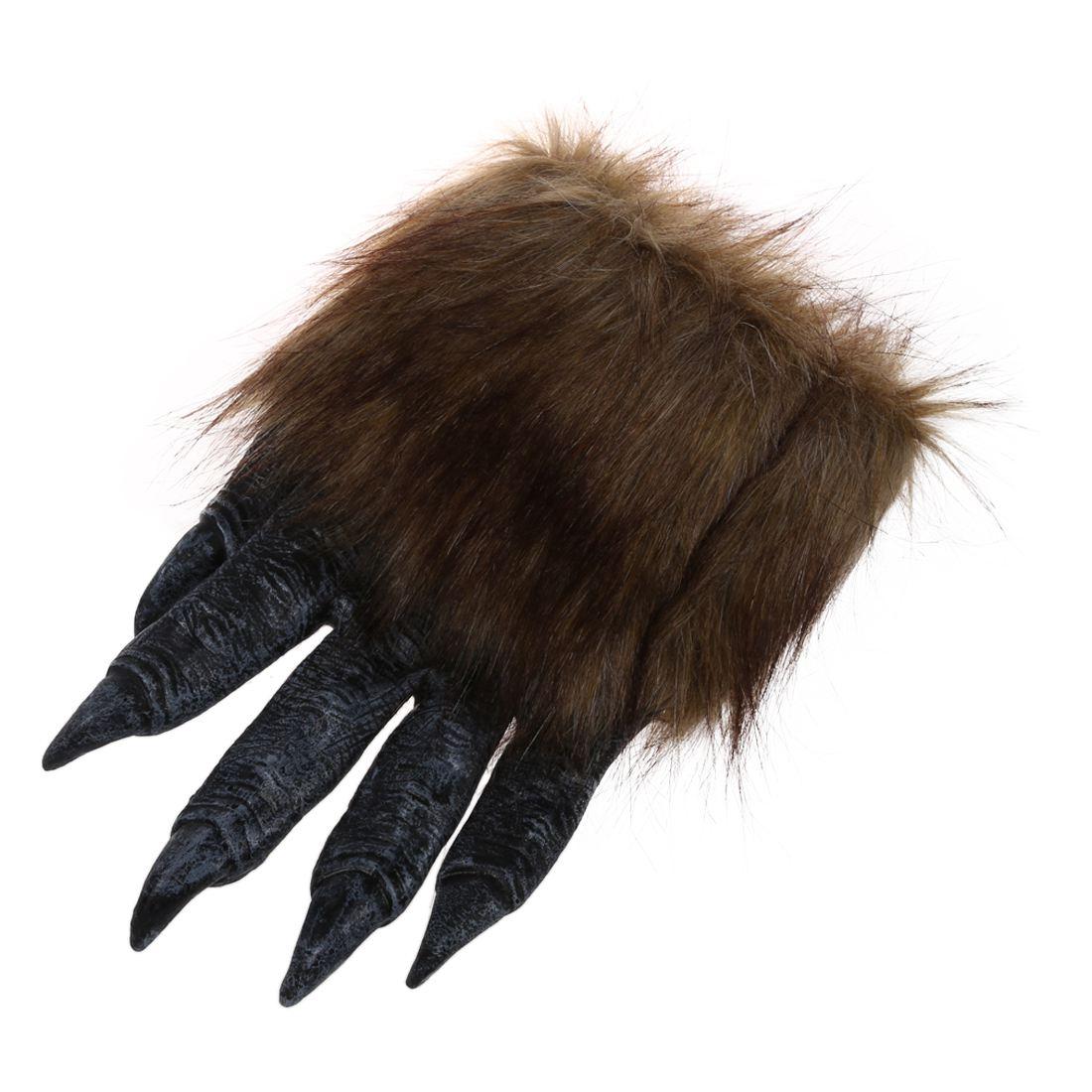 1 Pair Wolf Gloves Halloween Mask Animal Set Werewolf Masquerade