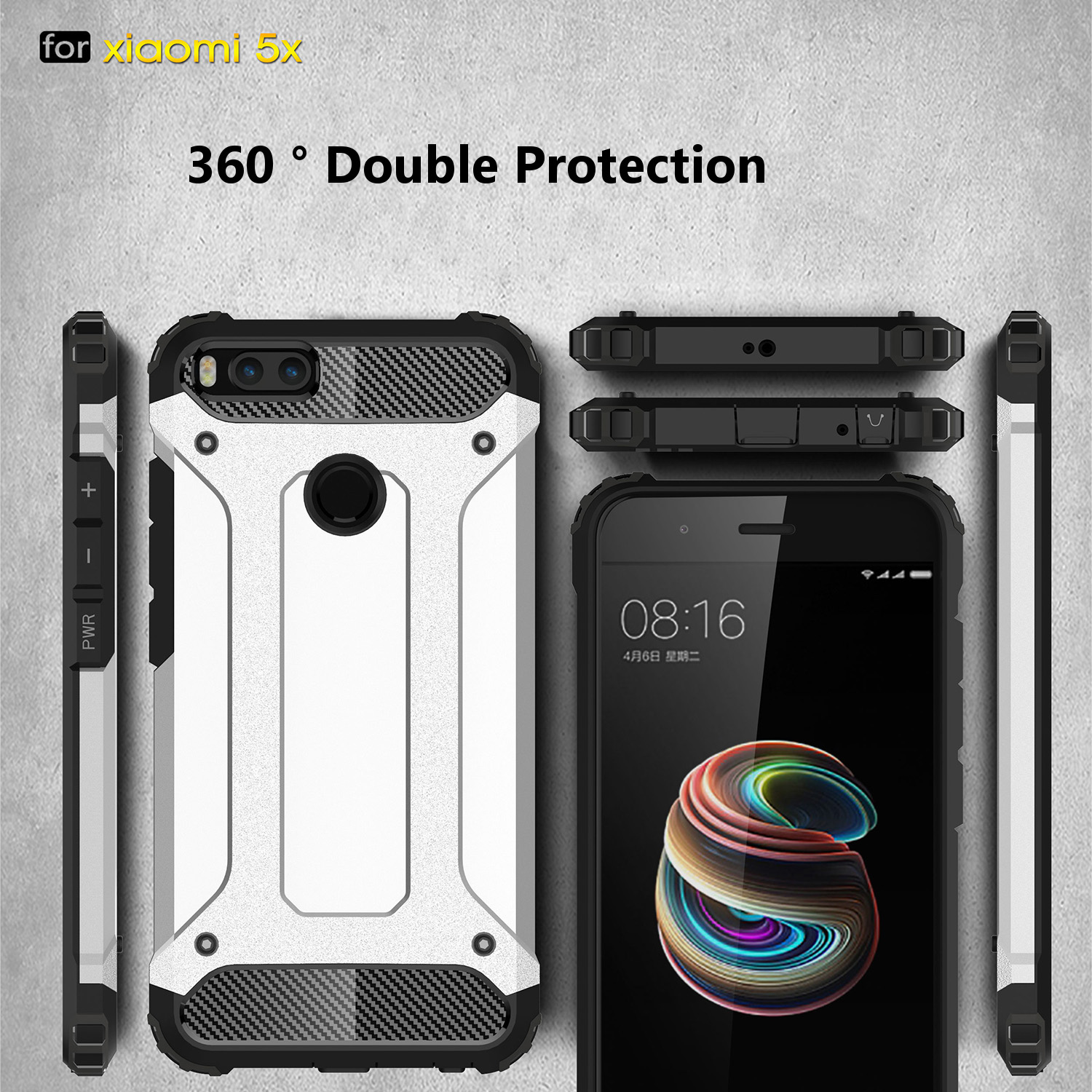 Bakeey Armored Hybrid Thick TPU & PC Hard Back Protective Case For Xiaomi Mi A1 / Xiaomi Mi5X