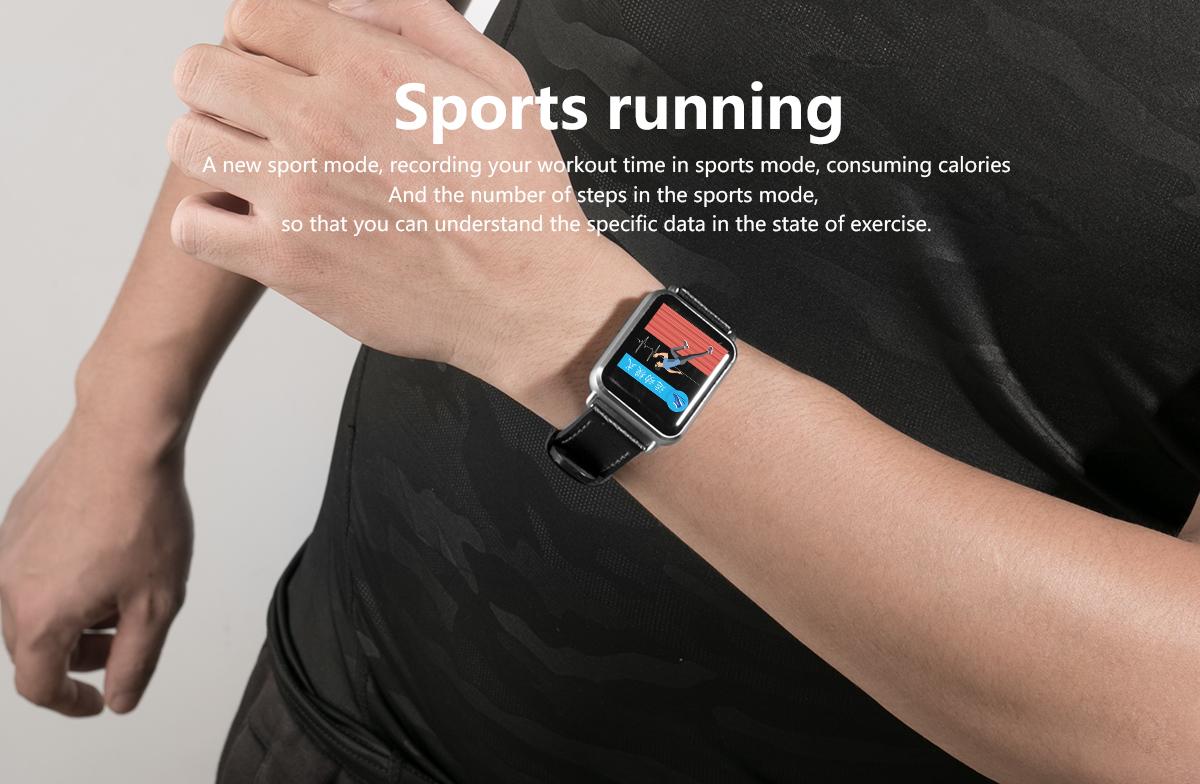 Newwear Q13 ECG+PPG 1.3' Custom Dial Eight Sport Modes Message bluetooth Smart Watch Blood Pressure