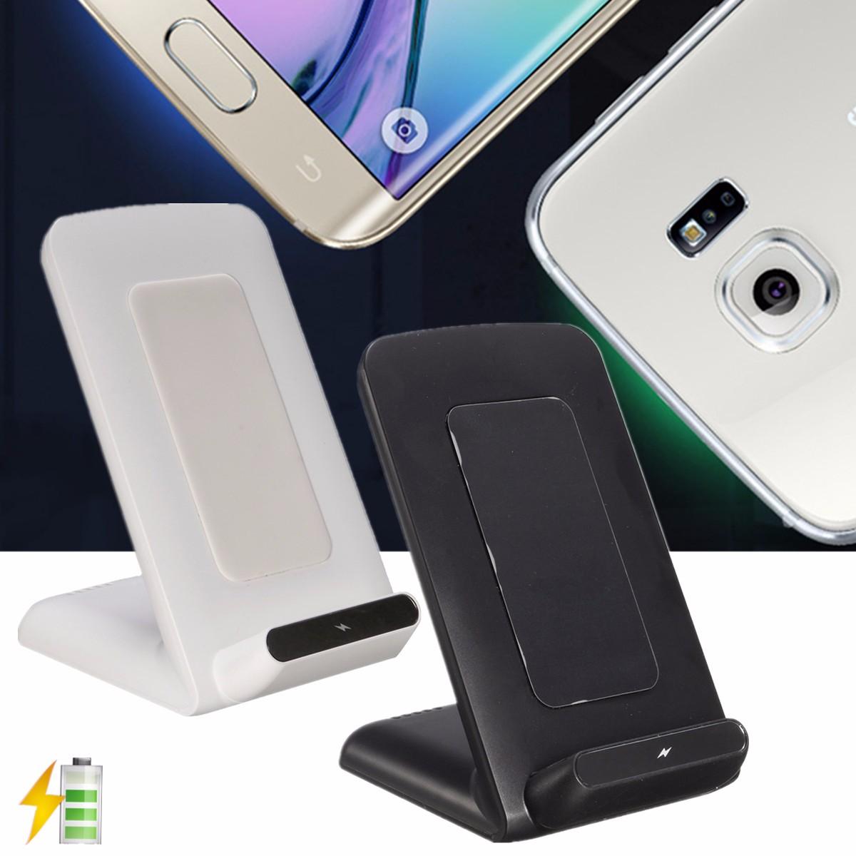 2 катушки Qi Беспроводное быстрое зарядное устройство для подставки для док-станции для Samsung S8 Galaxy Lumia