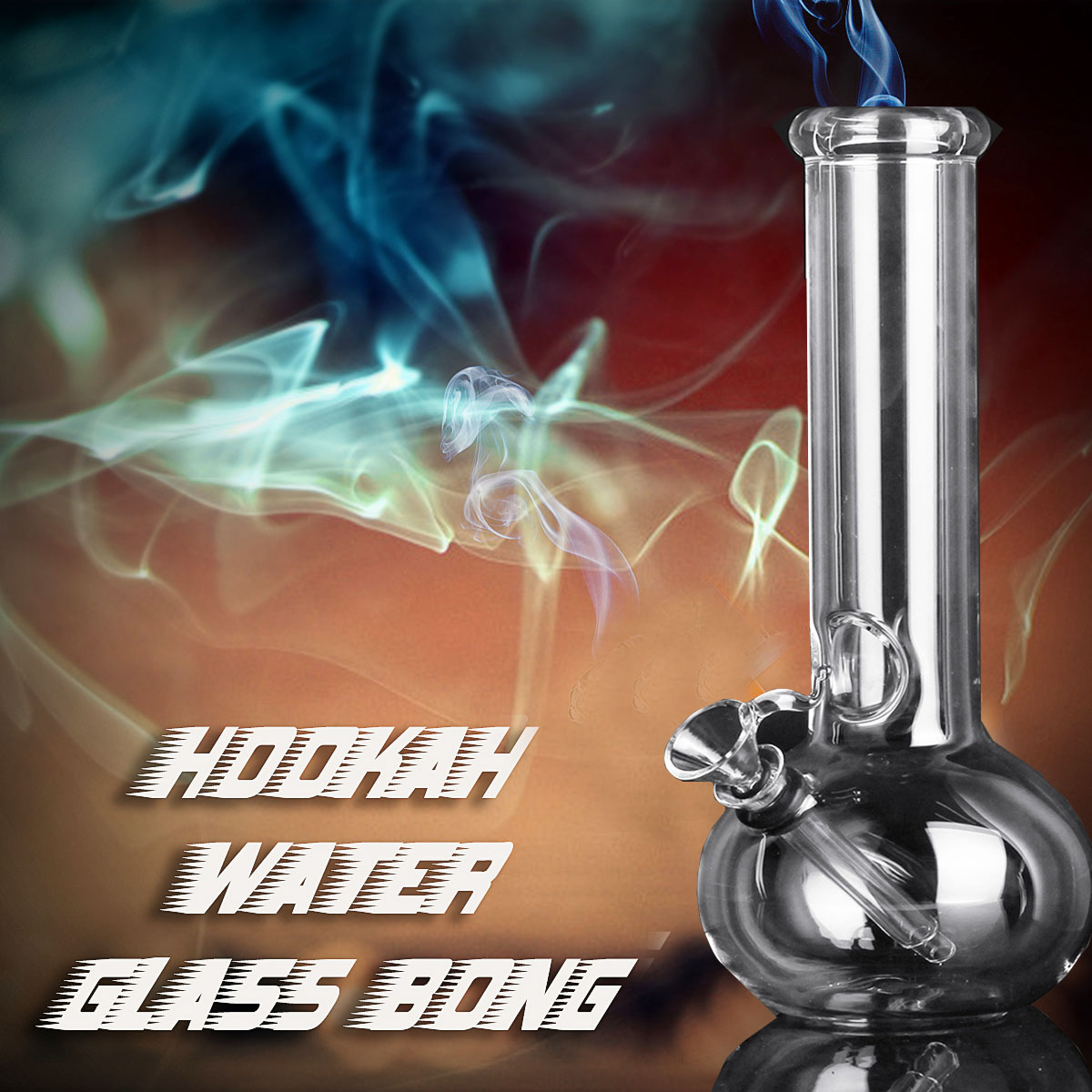 8 Inch Hookah Water Pipe Bong Glass Bong Pipes W/ Ice Catcher