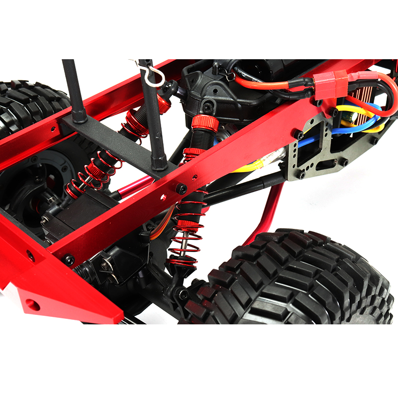 ZD 08422 1/8 2.4G 4CH 4WD Long Distance 200m Rc Car Crawler Truck Titanium Color - Photo: 8