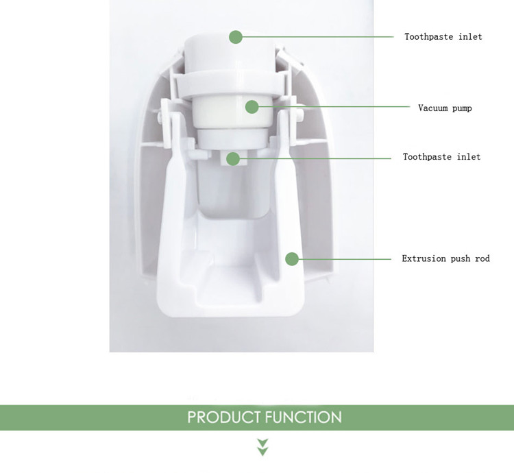 Honana Plastic Bathroom Automatic Toothpaste Dispenser Squeezer Home Toothpaste Wall Mounted Suction Holder Rack Accessories