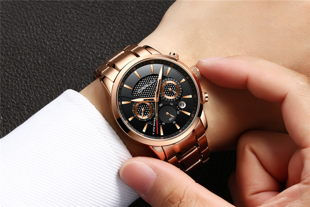 CRRJU 2212 Waterproof Calendar Fashionable Men Watches