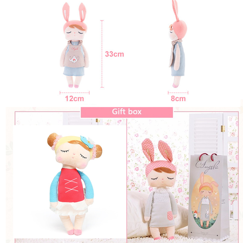 Metoo Angela Lace Dress Rabbit Stuffed 33CM Plush Dolls Toy For Children Girl Kids