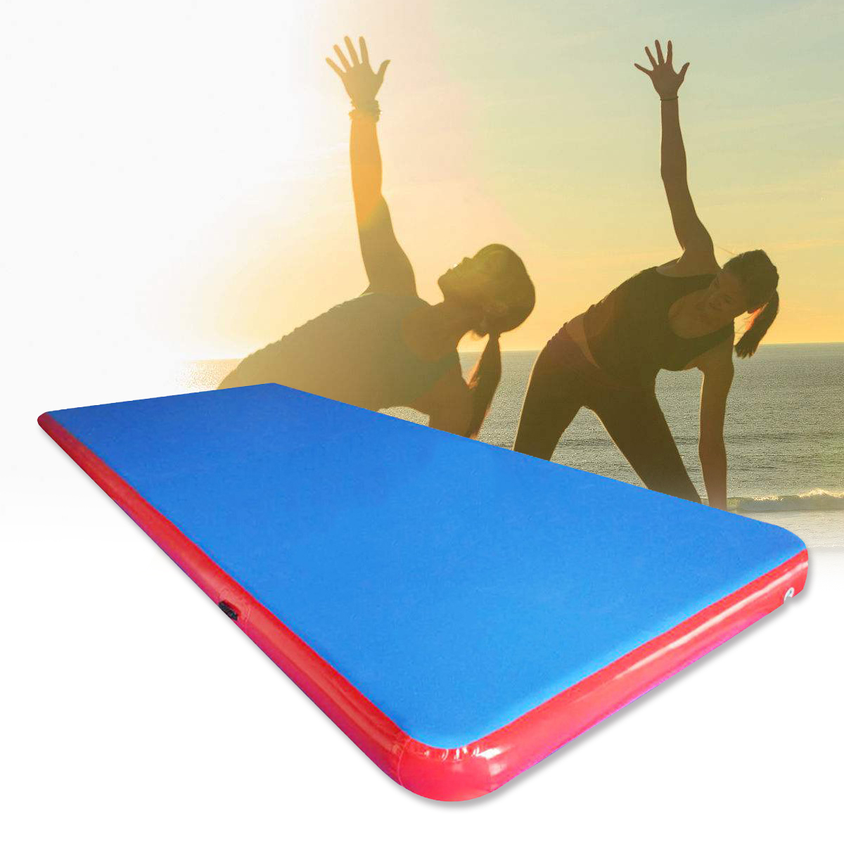 196x78.7x3.94inch Inflatable Air Track Mat Outdoor Sports Gymnastics Fitness Training Yoga Pad