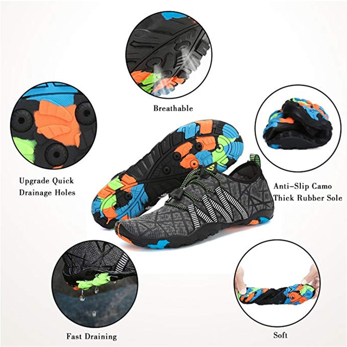 Men's Bathing Shoes Beach Shoes Spring Summer Water Shoes Quick Drying Floating Shoes Flat Aqua Shoes Surfing Shoes