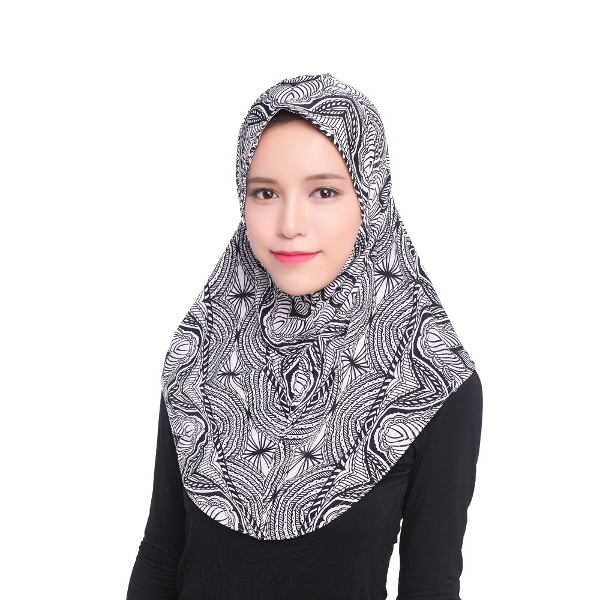 Women Girls Ice Silk Hijab Cover Soft Muslim Islamic Kerchief Headpiece