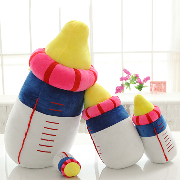 20/45/60cm Cute Milk Bottle Plush Toys Baby Bottle Pillow Soft Cushion Stuffed Plush Kids' Toys