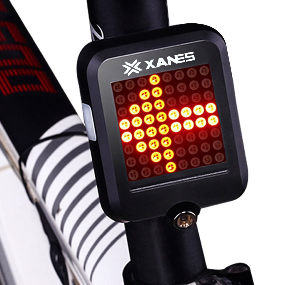 XANES 64 LED 80LM Intelligent Automatic Induction Steel Ring Brake Safety Bike Tail Light with Infra