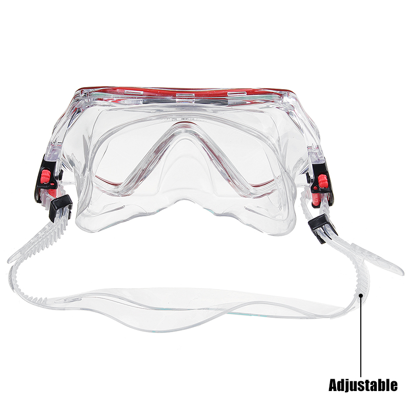 PVC Snorkel Set Snorkel Diving Mask Wide View Tempered Glass Anti-Leak Dry Top Snorkel Professional Snorkeling Set for Adult Youth