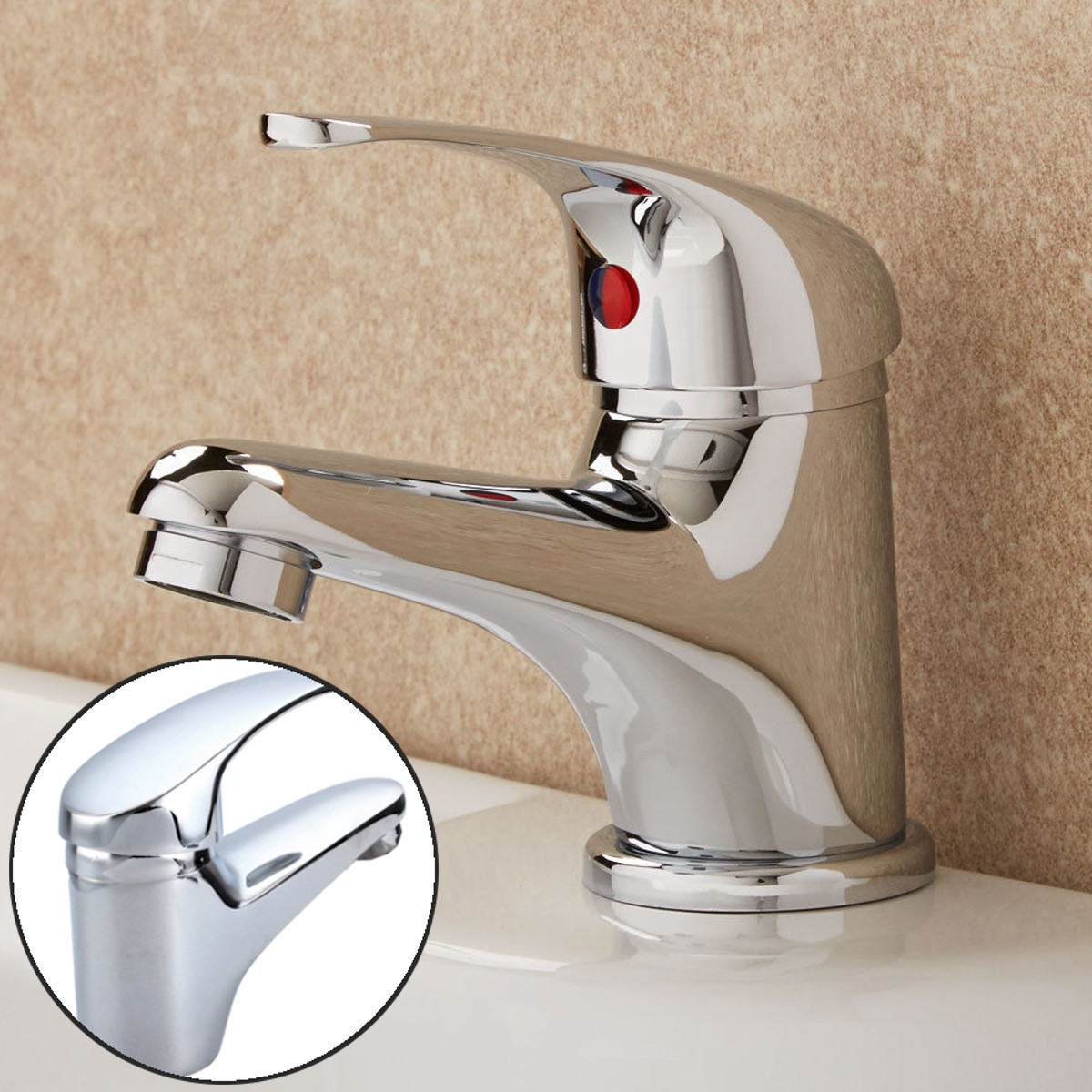 Brass Bathroom Sink Faucet Hot Cold Faucet