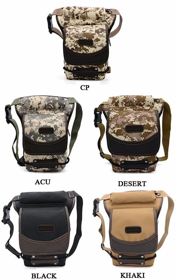 Men Tactical Nylon Waterproof Waist Bag Outdoor Sport Motorcycle Leg Bag
