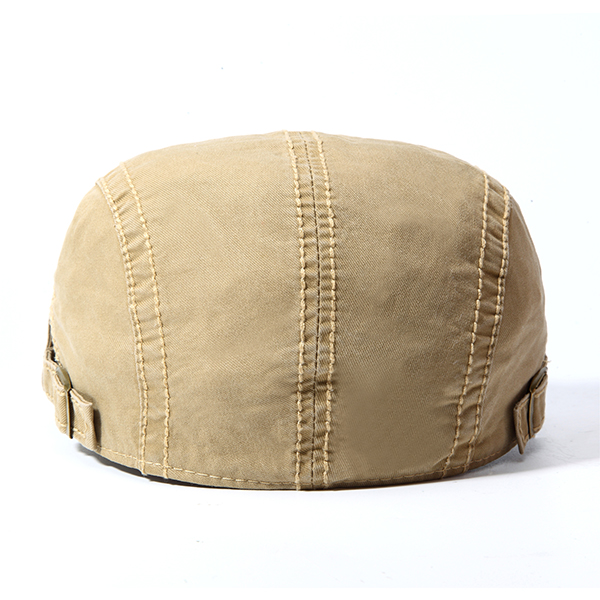 Mens Cotton Embroidery Letter Berets Caps Buckle Adjustable Outdoor Visor Forward Hat