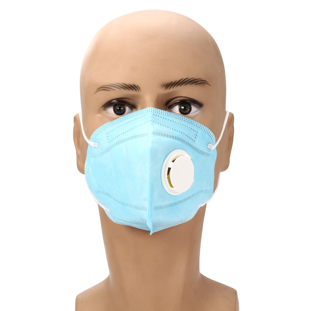 2pcs Disposable Work Dust Masks Valved FFP3 Respirator Face Safety Breathing Equip