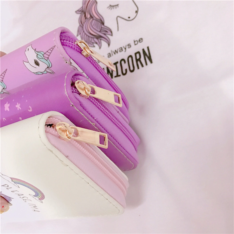 Universal Colorful Zipper Bag Unicorn Phone Wallet Purse for Phone Under 5.5 inches
