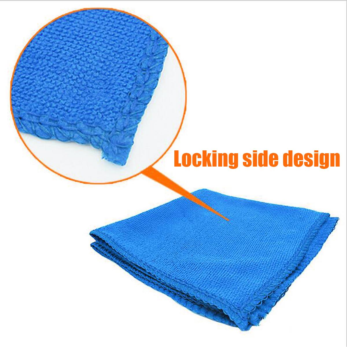 10Pcs Microfiber Cleaning Cloths No Scratch Rag Car Polishing Detailing Towels
