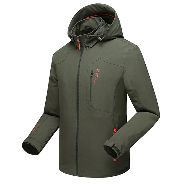 Mens Water Repellent Soft Shell Outdoor Jacket Big Size
