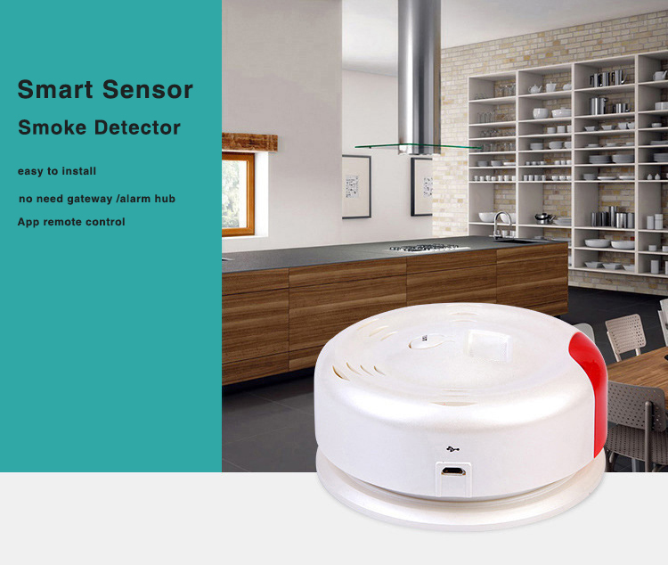 Bakeey Independent Smoke Sound and Light Alarm Wireless WIFI Sensor Tuya Smart Life APP Remote Push