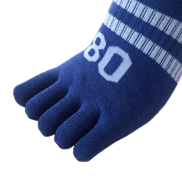 Men Digital Cotton Five Toes Invisible Number Boat Socks Casual Low Ankle Socks