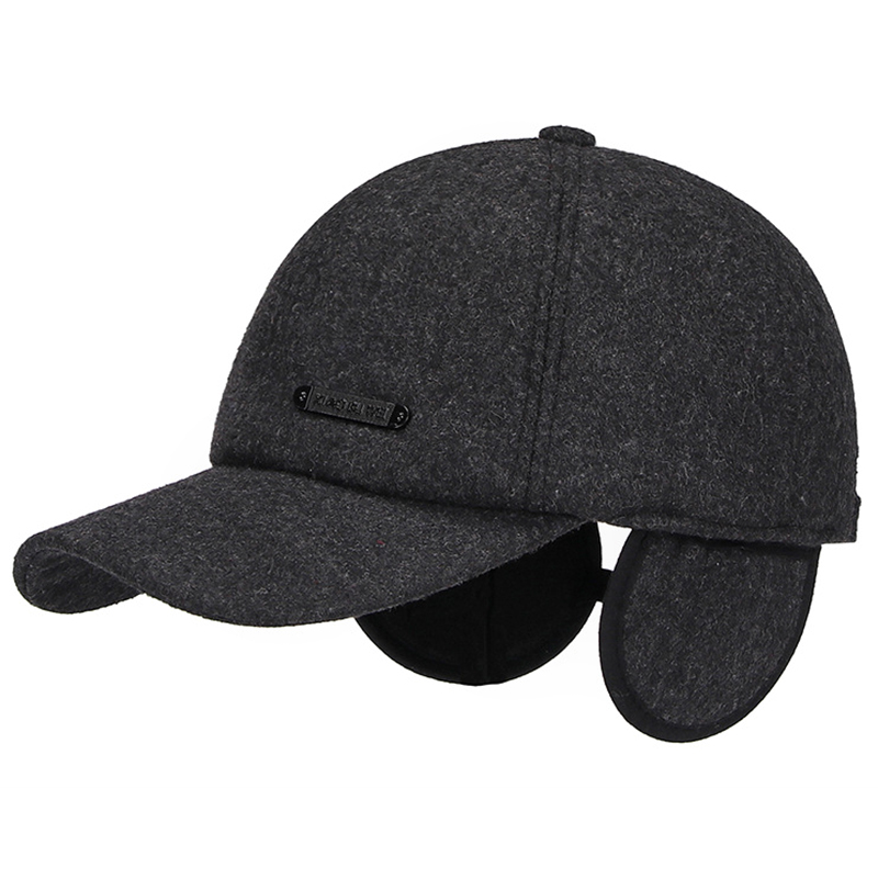 Mens Womens Winter Cotton Earmuffs Baseball Caps Dad Hats