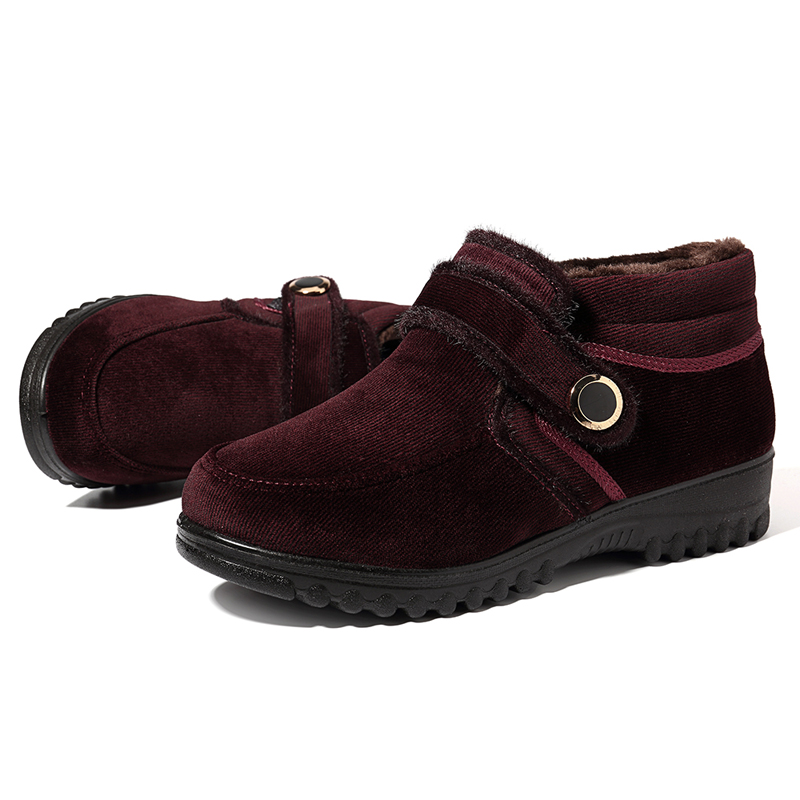 Women Ankle Boots Keep Warm Hook Loop Casual Shoes