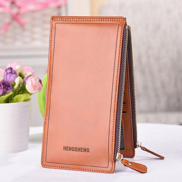 Women Faux Leather Long Wallet Multi-slots Card Holder