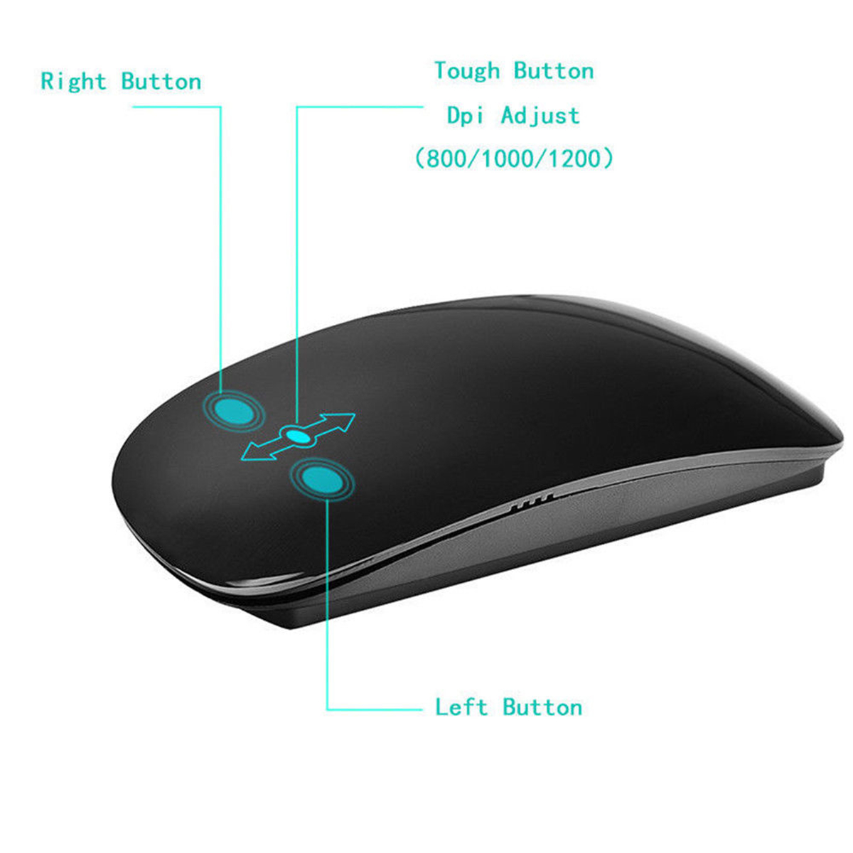 TM-823 Wireless 2.4Ghz 1200 DPI Touch Mouse Office Mouse Optical Mice